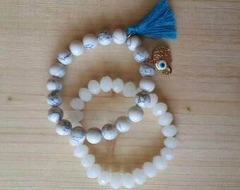 Beads bracelet ( 2 pieces)