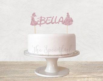 Disney Princess Cake Topper, Princess Cake Topper, Disney Cake Topper, Glitter Cake Topper