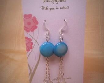 Sea Blue MOP Earrings