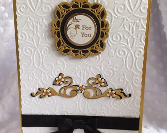 Hand made embossed a5 card