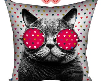 Cushion with cat, Cushion with image of a cat, gifts for cat lovers, cushion with image, cushion with photos, pillow with cat, cushion