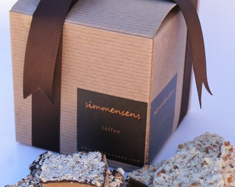Combo Box of Chocolate Covered English Toffee