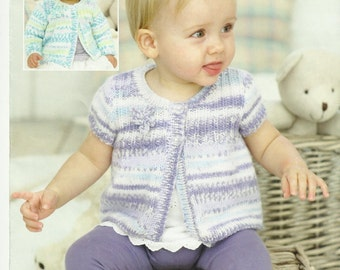 2 x Knitting Patterns Beautiful Baby/Childs Cardigan and Baby Cardigan.0 -7 years.