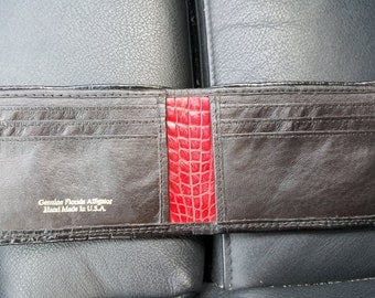Handmade Alligator wallet