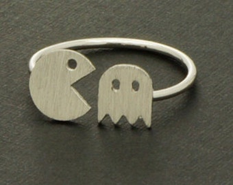 Ring Anello Pac Man Pacman adjustable
