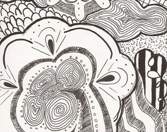abstract line work art print