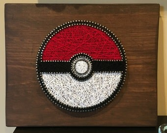 Pokeball String Art