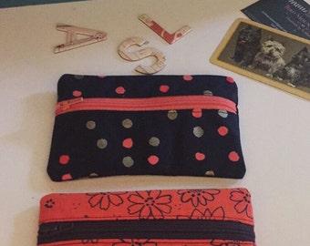 Polka Dot Coin Purse/ Wallet