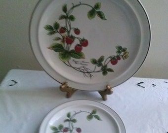 Jepcor International Plate Set for Two(2) The Strawberry Collection*