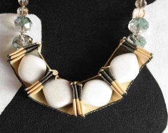 Unique Anthro Inspired Bib Necklace