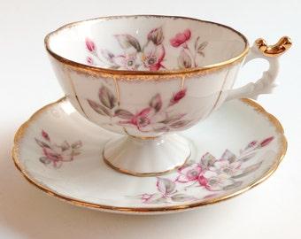 Pink teacup,Japan teacup, Vintage pink tea cup, Fine china teacup, Westville tea cup, Vintage cup, Teacup and saucer, Japanese teacup