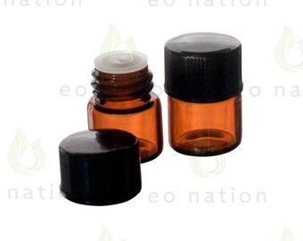 1/4 dram amber sample vials