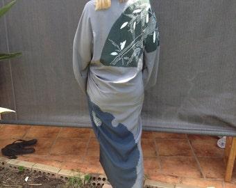 Elegant silk kimono