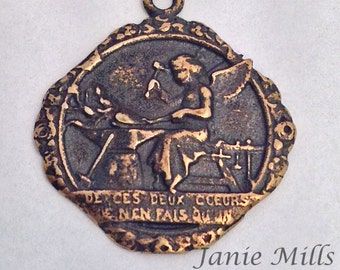 Medal Bronze  with an Angel Metalsmith