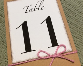 Rustic Table Number (4 pieces)