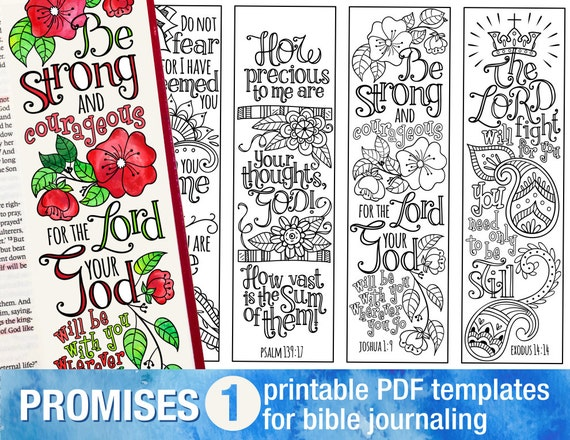 religious bookmark templates - god 39 s promises bible journaling printable templates