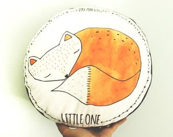 Fox pillow, fox cushion, woodland pillow, woodland cushion, fox nursery pillow, woodland animals, fox nursery pillow, woodland nursery decor