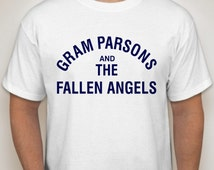 Gram Parsons And The Fallen Angels T Shirt - Retro Music Apparel Fashion Graphic Tee Men & Women