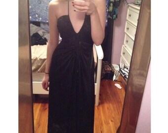 Vintage Black Floor Length Dress