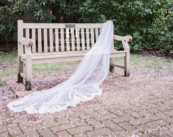 Cathedral Veil , Lace Wedding Veil, One Tier Cathedral Lace Veil, Cathedral Length Lace Veil , Custom Veil