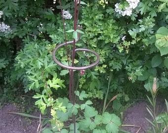 3 x Victorian Style  Wraparound Garden Plant Supports 60cm, 8mm Steel Bar