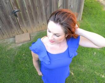 Royal Blue Shift Dress