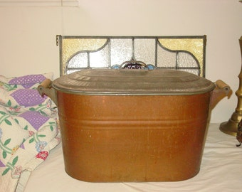 Vintage Copper & Metal Boiler With Lid