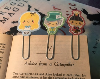 50% off Alice in Wonderland Paperclip Bookmark