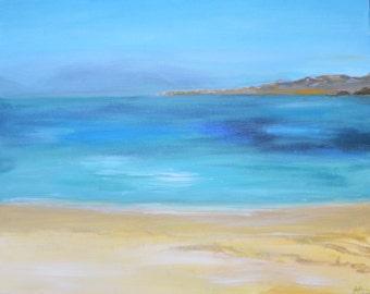 Sardinia seascape painting print