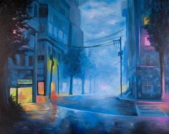 Quiet Night - Acrylics on canvas - 61cm x 50cm