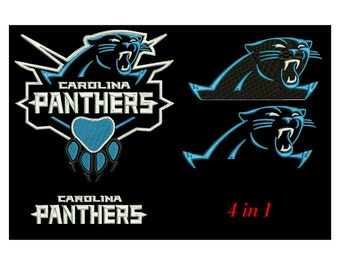 Embroidery Design Carolina panthers  Instant Email Delivery Download Machine embroidery design