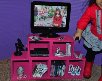 American Girl Doll 18 inch TV DVD Player Movies and More