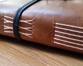 A5 Moleskine Leather travel journal, travelers notebook, travelogue, wedding gift,honeymoon, bucket list, graduation gift,envelope pockets