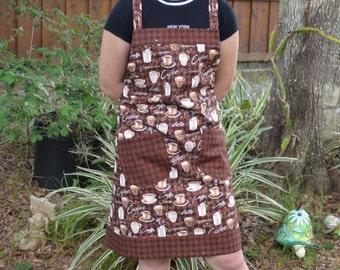 apron, coffee apron, kitchen apron, full apron