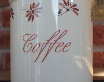1970's English Pottery Coffee Canister