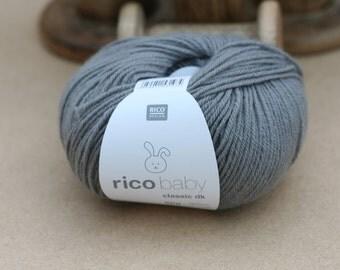 Rico Baby Classic DK Yarn Steel Grey 044