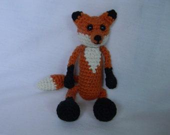 Finn the Fox - crochet, amigurumi, stuffed animal, plushie