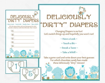 baby shower games guess the mess game deliciously dirty diapers
