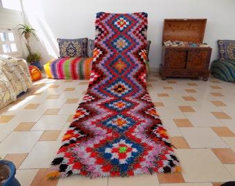 Moroccan Rag Rug / colory Boucherouite/ runner rag rug