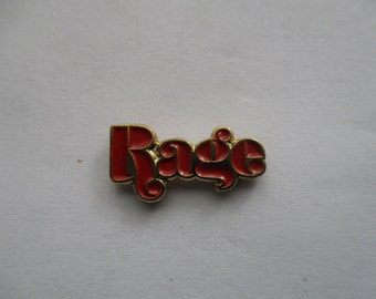 Orange Rage Hat Pin