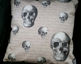 Skull Cushion Cover/Handmade/Gothic Skull/Scatter Cushion