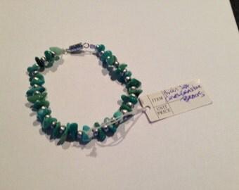 Green sea coral bracelet
