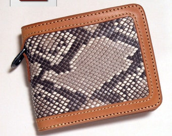 Pattern in PDF. Small leather wallet.
