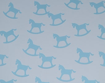 Baby Blue Rocking Horse Confetti, table scatter, birthday party decoration