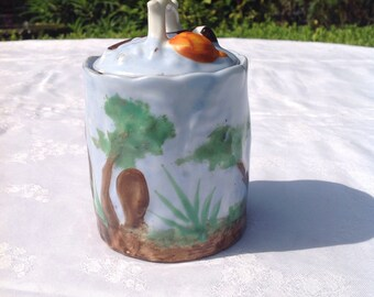 Handpainted ceramic pot