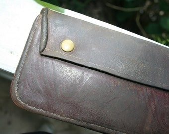 Vintage Leather Case or Pouch - Genuine Leather