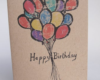 Greeting Card - Balloons