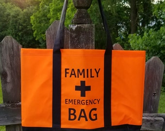 Family Emergency Bag - First Aid - Safety Bag