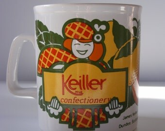 Vintage Keiller coffee mug by Kiln Craft, Staffordshire Potteries