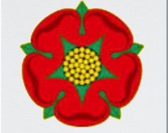 Red Rose of Lancashire Printed Coaster and Mug